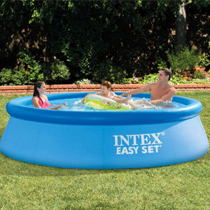 Inflatable ring pools