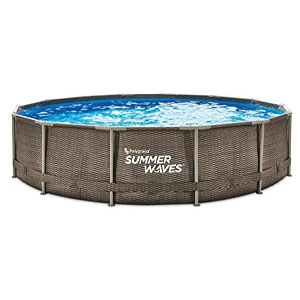 Summer Waves Wicker Print Above Ground Pool